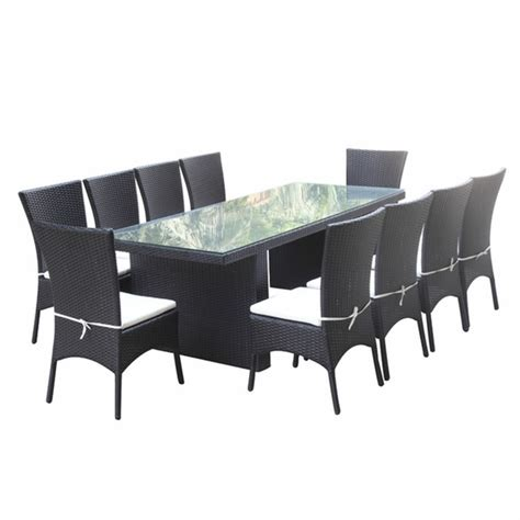 Outdoor Dining Sets Black Rattano Outdoor Dining Set Black Modern In Designs