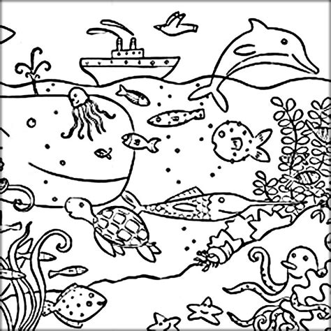 preschool coloring pages ocean animals ocean animals coloring pages kindergarten