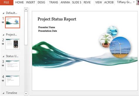 Project Status Report Powerpoint Template Project Status Report Ppt