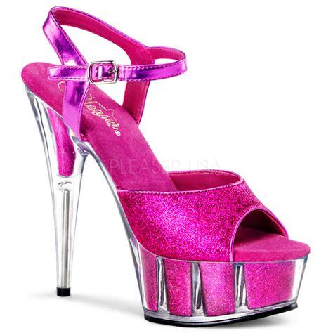 glitter pink high heels pleaser bright pink glitter platform stiletto