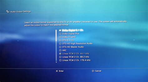 format audio pcm ou bitstream how to make the audio settings on your playstation 3