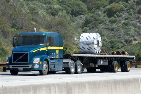 big d volvo volvo big rig flatbed truck 18 wheeler navymailman