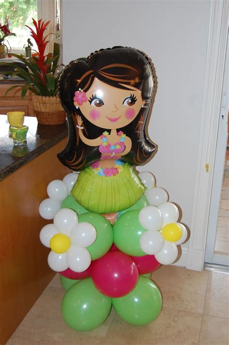 a touch of tropical centsational girl 21 best tropical balloon decor images on pinterest