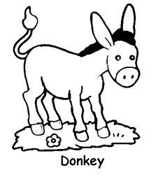 donkey coloring pages preschool donkey coloring pages for kids preschool and