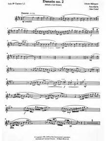 Danzon no 2 solo clarinet part