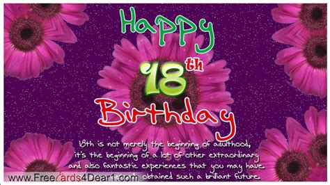 Happy 18th Birthday Wishes For Happy 18th Birthday Quotes Quotesgram