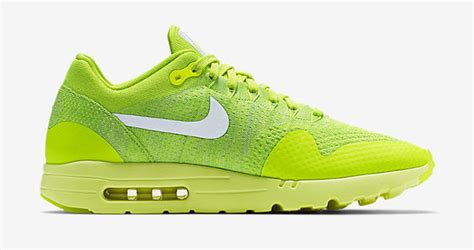 Sneakers Nike Air Max 1 Flyknit Volt nike air max 1 ultra flyknit volt electric green white