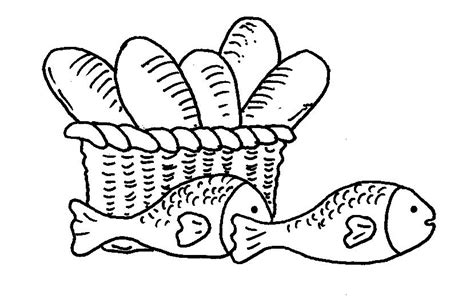coloring pages of fish and bread feeding the multitude with the bread of life 171 bloor