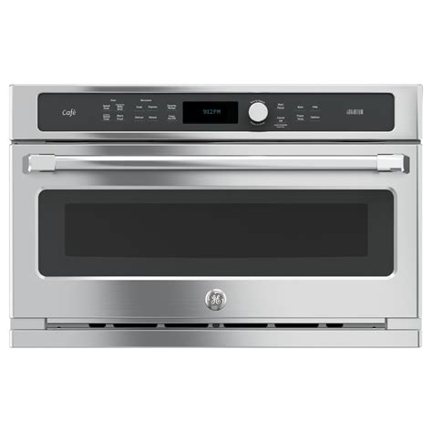 ge built in microwave shop ge cafe advantium 1 7 cu ft built in convection microwave with sensor cooking controls and