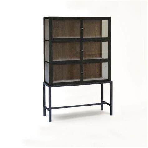 Media Cabinet West Elm Curio Display Black Cabinet