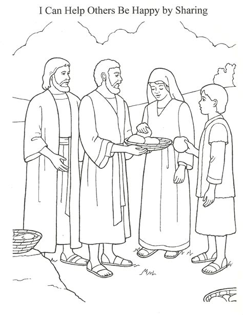 printable coloring page jesus feeds 5000 free coloring pages of feeding 5000