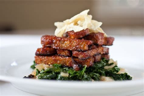 easy bbq tempeh and tangy power greens recipes video the chic life