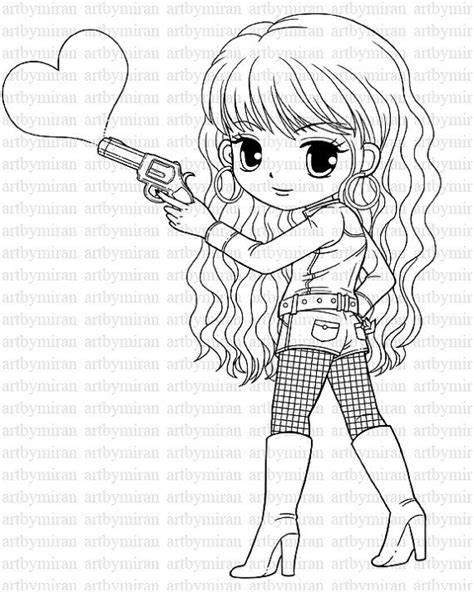 coloring pages of a pretty girl 17 best images about miran digi on pinterest valentines