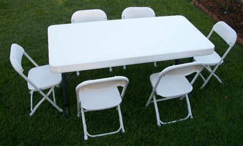 folding table and chairs rental alianas rentals