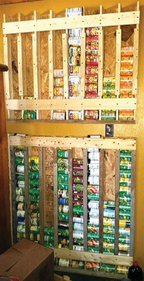 Pantry Can Storage Systems by How To Build A Simple Canned Food Dispenser
