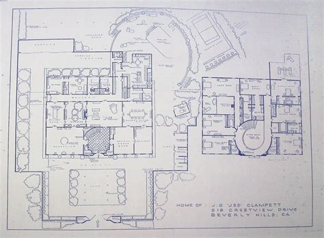beverly hillbillies mansion floor plan house from beverly hillbillies tv show blueprint by