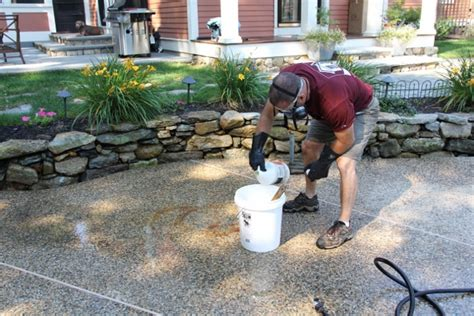how to clean bluestone how to remove a rust stain off concrete or bluestone