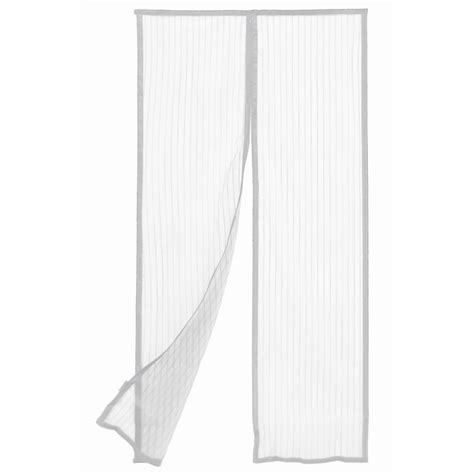 flyscreen curtain pillar products 90 x 200cm white magnetic flyscreen door