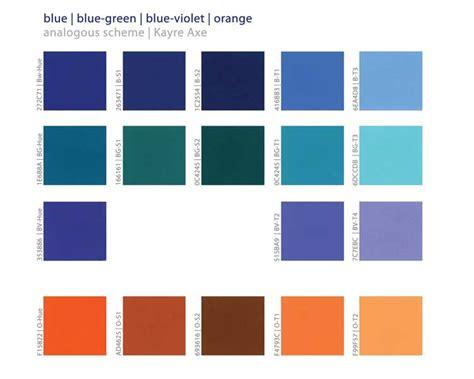 blue orange color scheme analogous color schemes in color