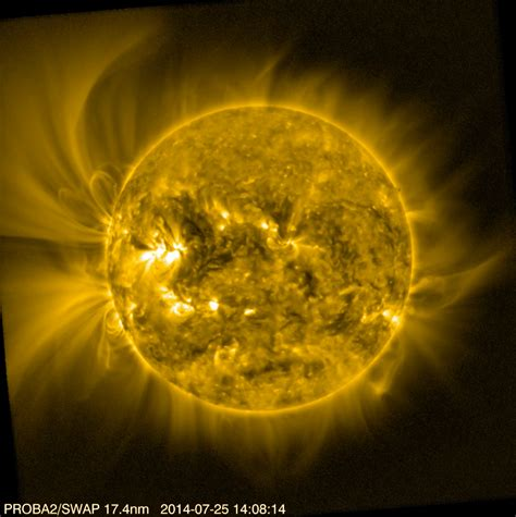 Space In Images 2015 03 Solar Corona Viewed By Proba 2 Corona Solar Light