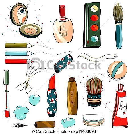 Make Up Di My Salon eps vectors of makeup set colorful drawing makeup set