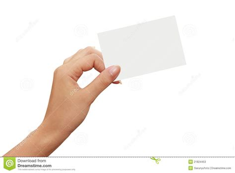 libro de la mano de tarjeta del libro blanco en una mano de la mujer fotos de archivo imagen 21824453
