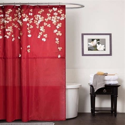 red bathroom shower curtains curtain inspiring red shower curtain red shower curtains