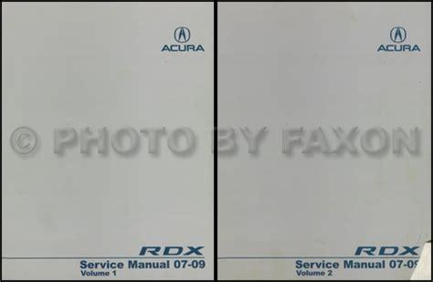 2007 2008 acura rdx repair shop manual original 2007 2008 acura rdx repair shop manual original
