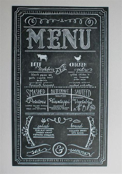 home menu board design best 25 menu chalkboard ideas on pinterest memos menu