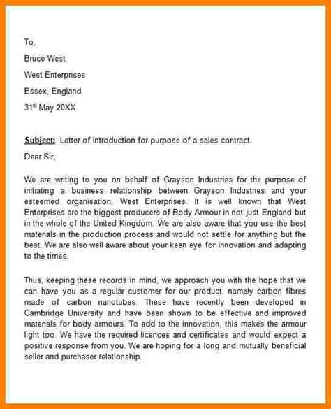 Company Introduction Letter To Customer Sle 7 Introduction Letter To Prospective Client