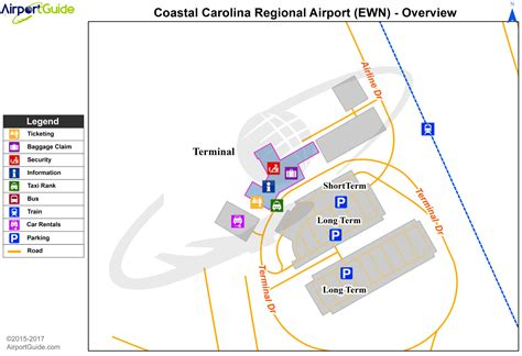 carolina airport terminal map new bern coastal carolina regional ewn airport