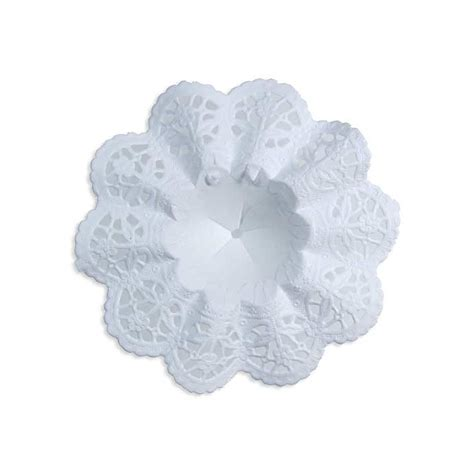 Small Paper Bouquet small paper lace flower bouquet holders in white 4