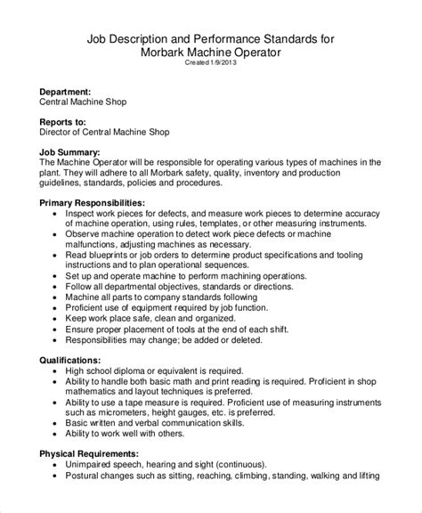 machine operator resume pdf machine operator skills machine operator duties resume machine