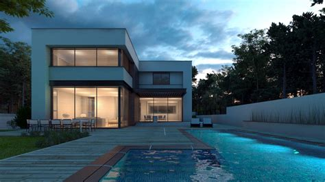 house with pool renders making of ms house at dusk part 2 sketchup export