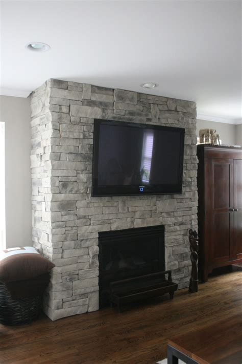 Stone Fireplaces With TVs   North Star Stone