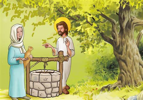 imagenes de jesus y la samaritana abril 2016 dibujos y cosas para catequesis