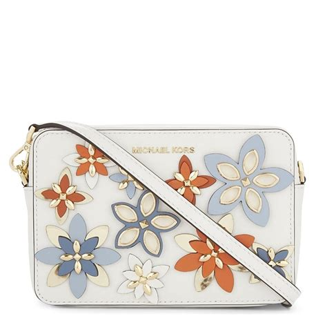 Michael Kors Ginny Flora Nat Fawn michael kors crossbody with flowers mkonline