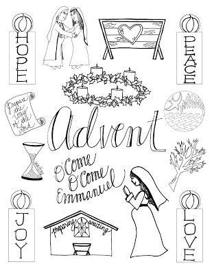 O Antiphons Coloring Pages by Advent Catholic Activities Crafts Peg Dolls O