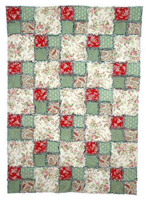 four patch rag quilt pattern tutorial