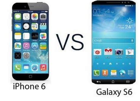 samsung galaxy s6 vs iphone 6 comparison rumored amoled screen will be larger than apple