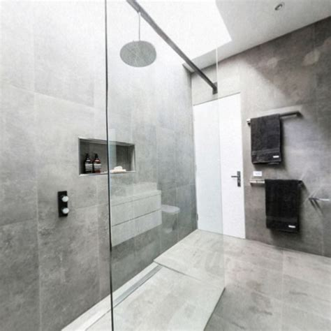 the block bathroom tiles chris and jenna bathroom the block glasshouse beaumont concrete fuse lappato