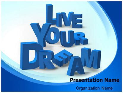 Live Your Dream Powerpoint Template Background Subscriptiontemplates Com Live Powerpoint Templates
