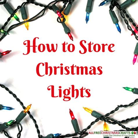 how to store christmas lights allfreechristmascrafts com