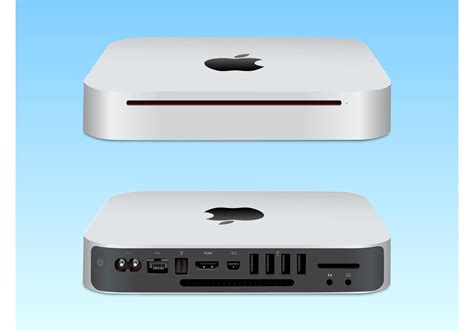 Macbook Mini mac mini vector illustration free vector