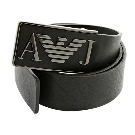 armani casual black leather belt q6115 60 ajm2253 at
