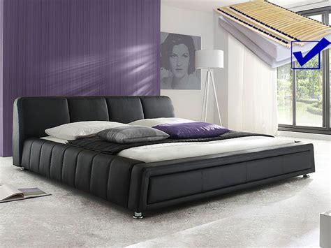 günstige betten 180x200 mit lattenrost und matratze polsterbett komplett aron bett 180x200 schwarz