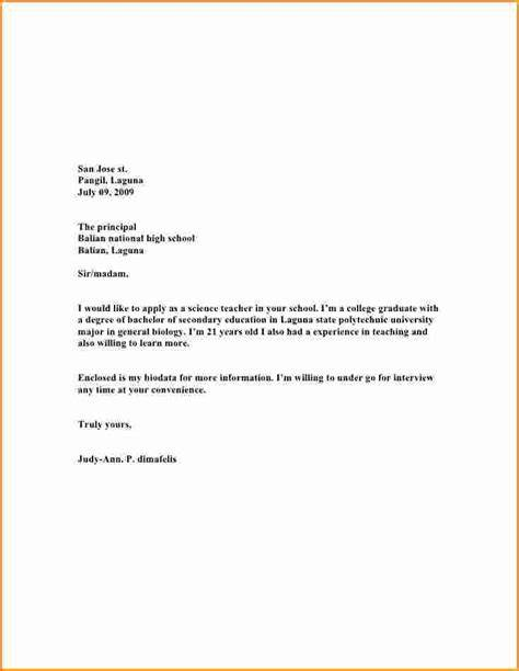 6 High School Student Application Letter Invoice Template Download