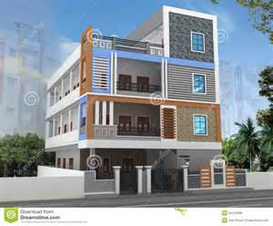 Independent Kitchen Designers 3d building elevation stock photo image 52724286