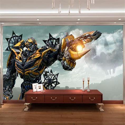 transformers wall mural 3d bumblebee wall mural transformers photo wallpaper boys bedroom custom wallpaper