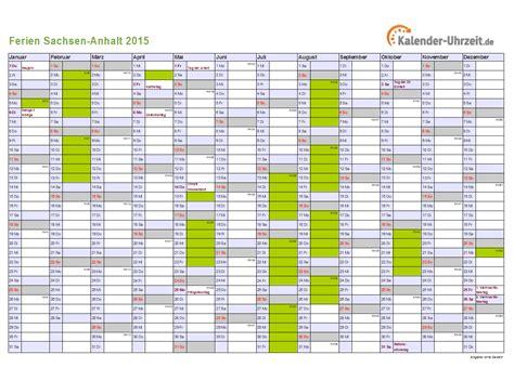 Kalender 2015 A4 Ferien Sachsen Anhalt 2015 Ferienkalender Zum Ausdrucken